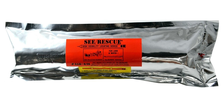 SEE/RESCUE STREAMER - SAR  25' PLS Lighted Version