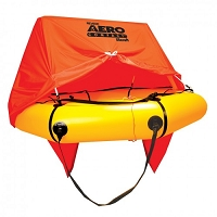 4 person Aero Compact Liferaft w/canopy & DELUXE kit