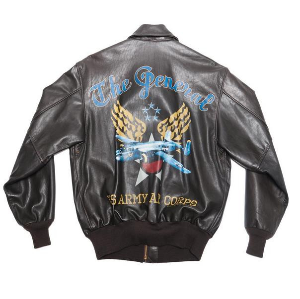 THE GENERAL NOSE ART A-2 LEATHER JACKET