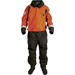 SENTINEL SERIES BOAT RESCUE DRY SUIT WITH AJUSTABLE NECK SEAL AND DROP SEAT